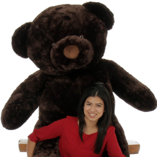 Munchkin Chubs dark brown teddy bear huge 5ft size