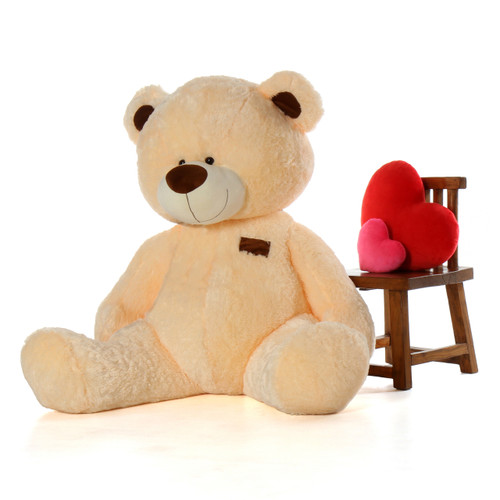 6ft High Quality Bear BooBoo Shags Cream Teddy Bear