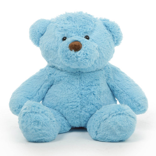 Huge Blue Teddy Bear Sammy Chubs 30in