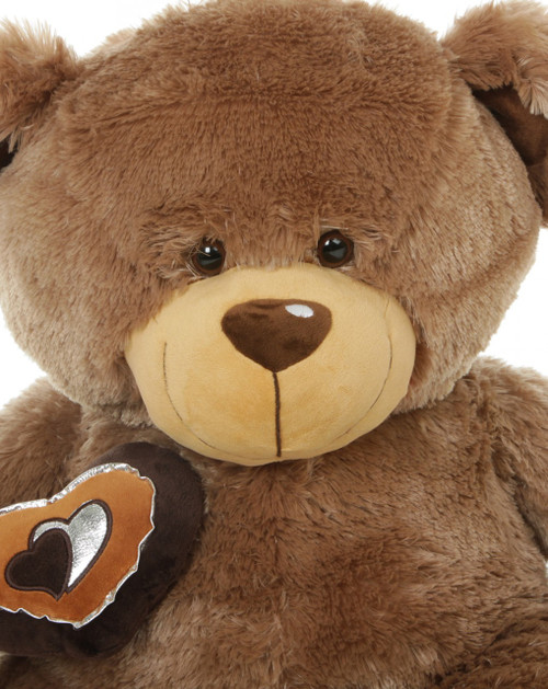 36 Inch Super Soft Big Teddy Bear with Silver Lined Heart