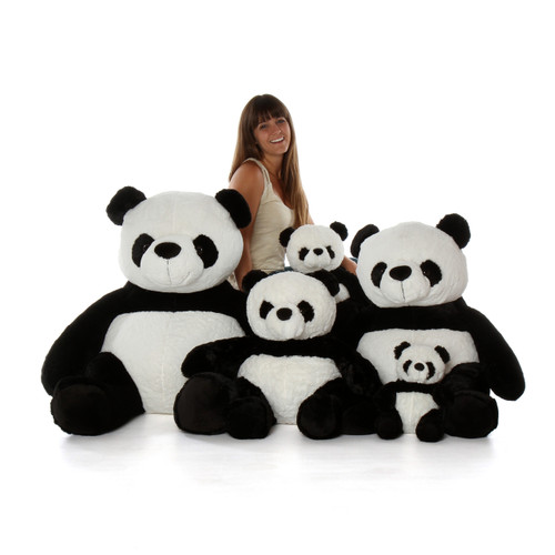 Big Plush Sitting Pandas Family