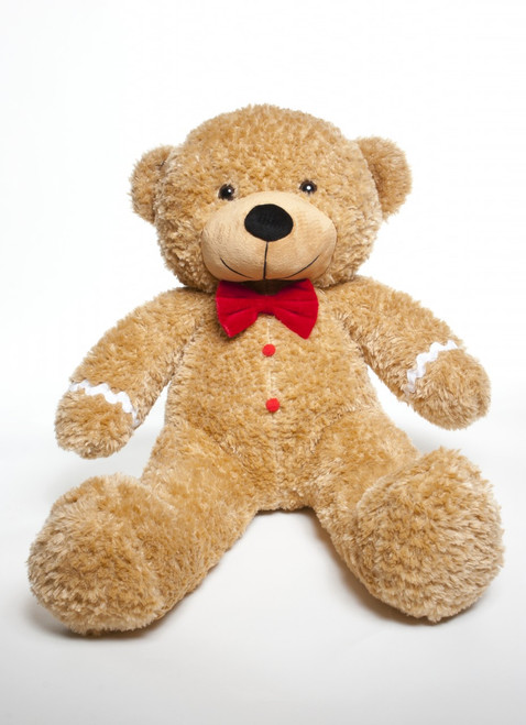 Amber Brown Teddy Bear that looks like a Ginger Bread for Christmas Gift