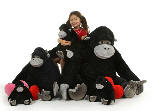 Big Stuffed Gorilla Family