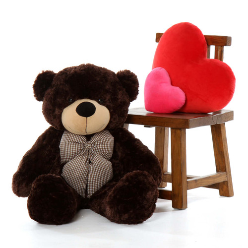 38in Huge Teddy Bear Brownie Cuddles has Soft Chocolate Brown Fur