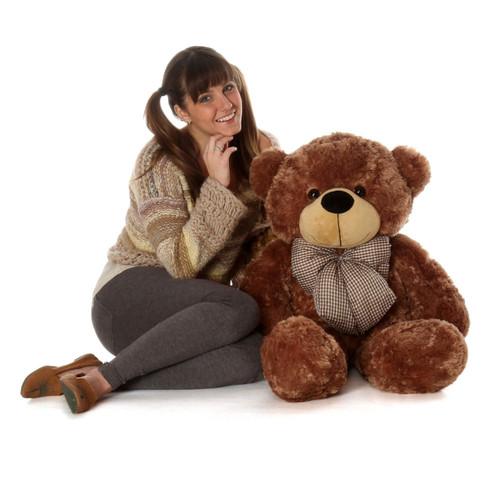 Huge Mocha Brown Teddy Bear Sunny Cuddles 38in