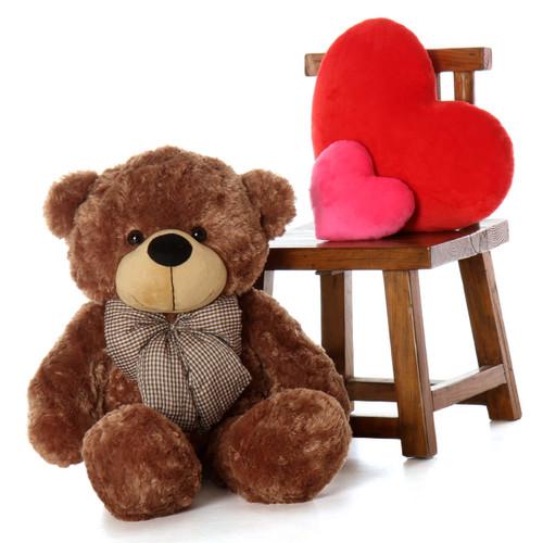 38in Sunny Cuddles Mocha Brown Teddy Bear