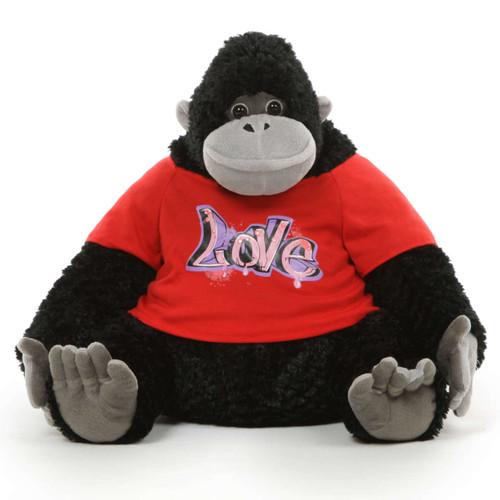 Super Soft Adorable Big Stuffed Gorilla with T-shirt