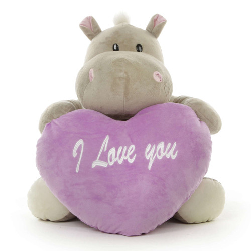 Let this sweet plush hippo be the unique Valentine's Day gift that your loved one will treasure forever!