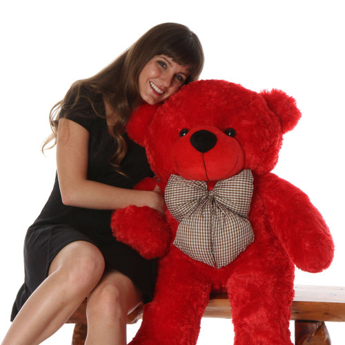 Huge Red Teddy Bear Bitsy Cuddles 38in