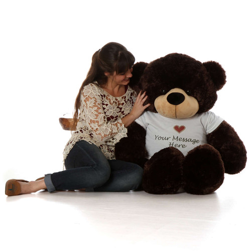 Big personalized teddy bear like Brownie Cuddles 48 inch