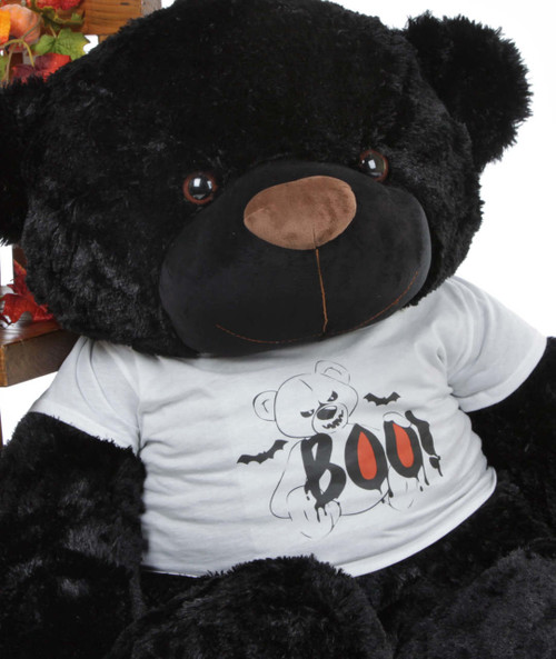 Huge Black Halloween Teddy Bear
