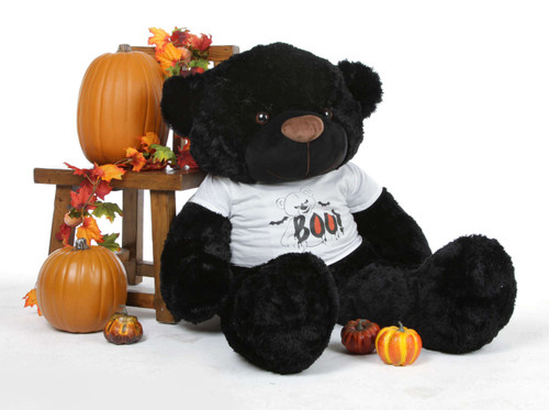 Juju Cuddles is scary sweet in his Giant Teddy Halloween Shirt