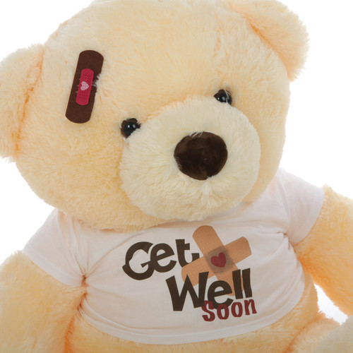 38in Buttercup Chubs Get Well Soon Teddy Bear (Close Up)