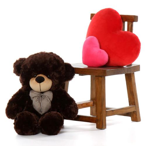 Oversized Chocolate Brown Teddy Bear Brownie Cuddles 30in
