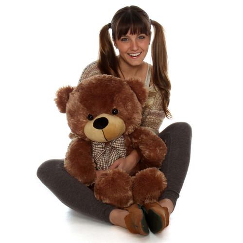 30in Giant Teddy Bear Cuddles Soft Cuddly Mocha Brown Fur