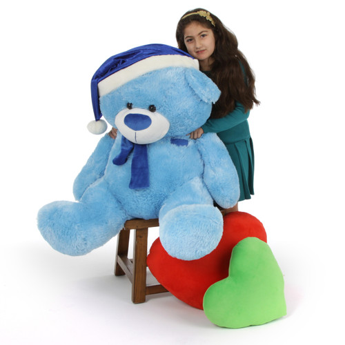 Blue 4 ft Teddy Bear Christmas Gift