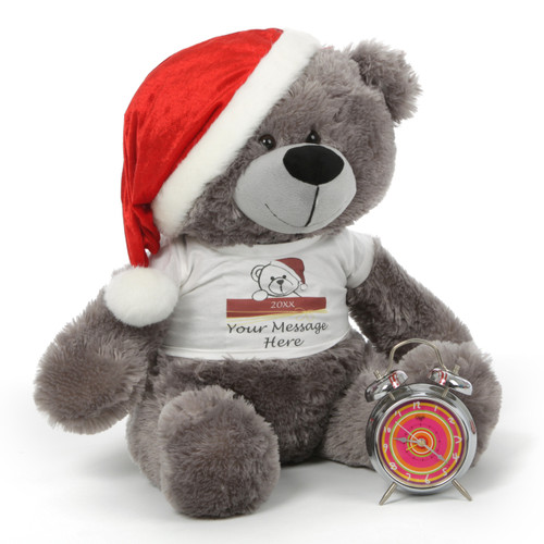 Oversized Silver Teddy Bear Christmas Gift