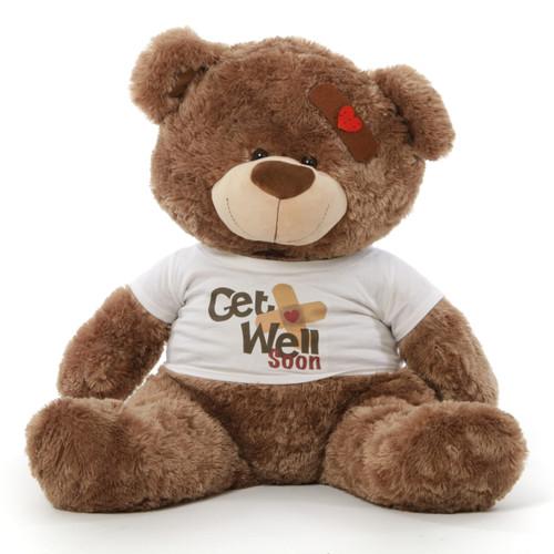 "37"" Get Well Soon Teddy Bear, Mocha Brown"