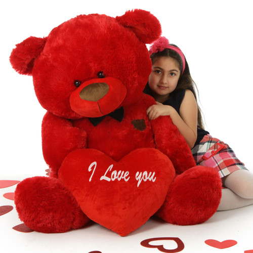 48in Red Valentine's Day Teddy Bear Randy Shags is the perfect gift!