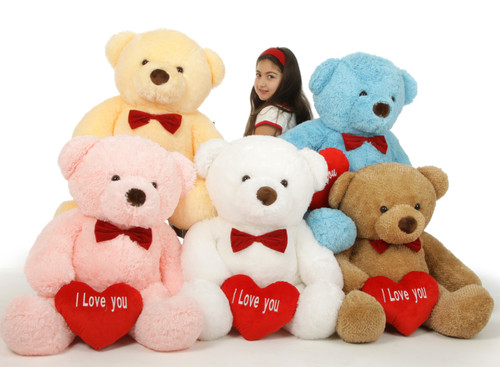 38in Chubs Valentine's Day I Love You Giant Teddy Bears - Group Photo