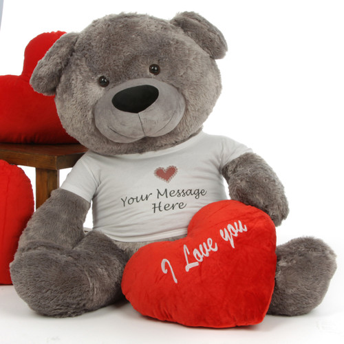 Diamond Shags Personalized Valentine's Day Teddy Bear 45in