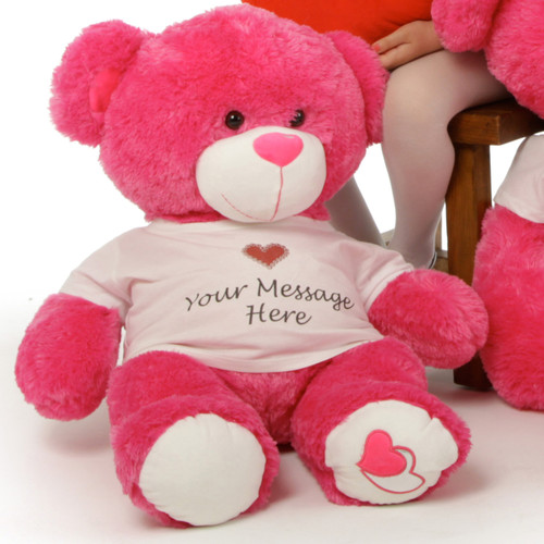 They'll get the message with Personalized Hot Pink Cha Cha Big Love 30in