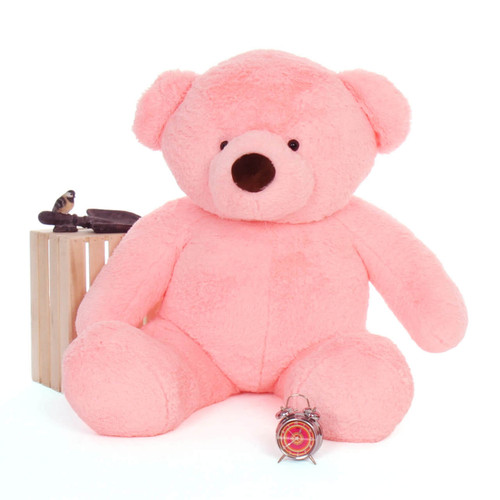 Gigi Chubs Plush and Adorable Light Rose Teddy Bear 5ft