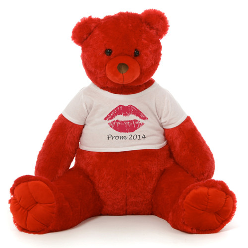 Big Red Teddy Bear with T-Shirt