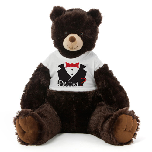 3½ ft Baby Tubs Cuddly Dark Brown Prom Teddy Bear (Prom? - Tuxedo)