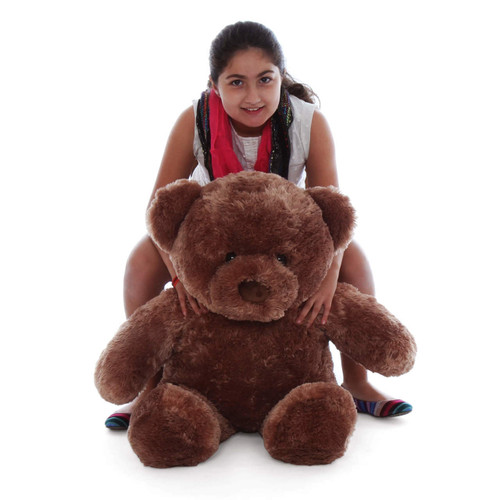 Chubs 30in soft and cuddly with plush luscious mocha fur