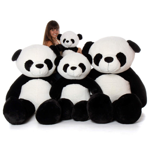 Giant Teddy Big Stuffed Panda Family