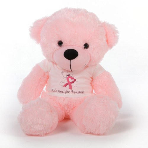 24in Pink Giant Teddy Lady Cuddles Breast Cancer Awareness