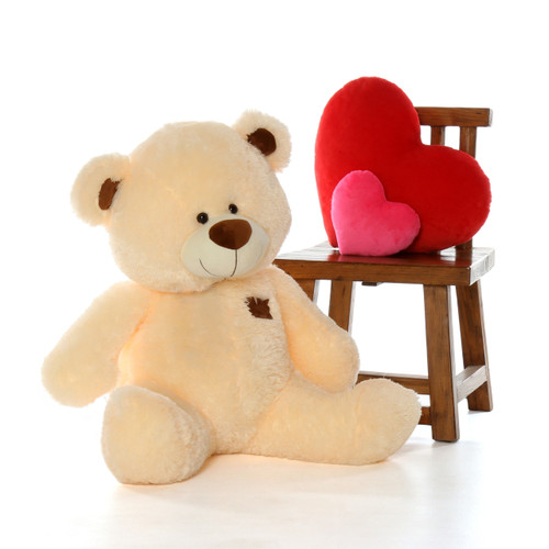 3 Foot Vanilla Giant Teddy Bear in Sitting Position