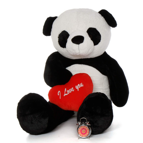 "6ft valentine gift Life Size Panda Bear Rocky Xiong wred ""I Love You"" heart"