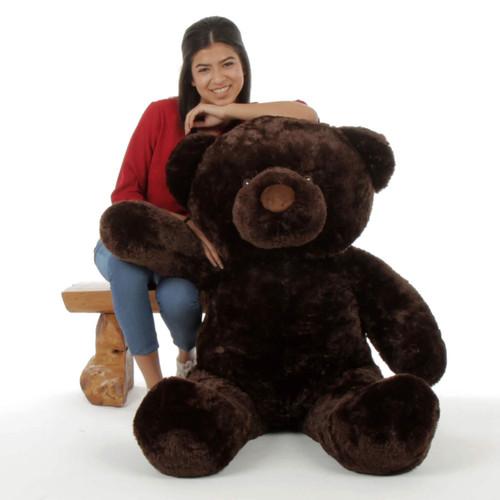 Giant 4ft Teddy Bear Munchkin Chubs dark brown snuggly soft