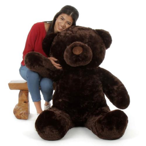 Soft and Huggable  Munchkin Chubs chocolate brown teddy bear 48in