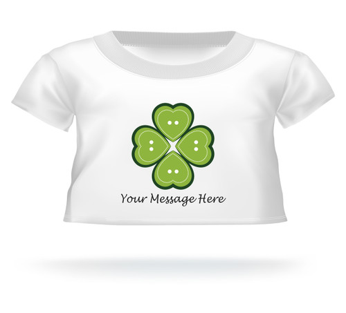 St. Patrick's Day Heart 4 Leaf Clover Giant Teddy Bear Personalized Shirt