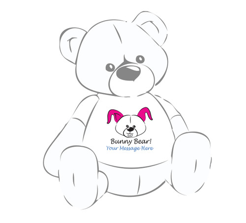 Personalized Bunny Bear! Giant Teddy Bear Easter shirta