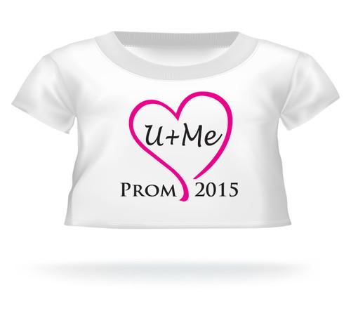 U+Me Prom 2015 Giant Teddy Bear Pink Heart  T-shirt
