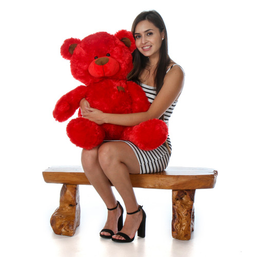 Red 30 Inch Super soft and Cuddly Red Teddy Bear in Sitting Position