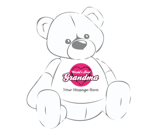 Personalized World's Best Grandma Giant Teddy Bear shirt