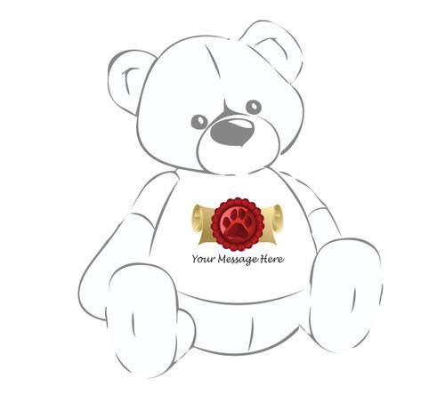 Graduation Diploma w/paw print teddy bear t-shirt