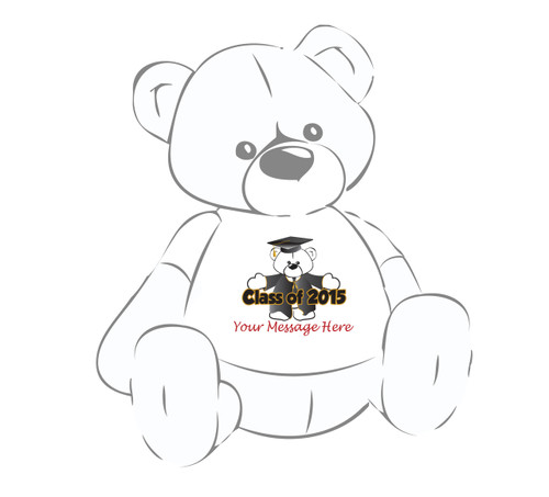 Teddy Bear T-shirt Graduation Cap & Gown 2015