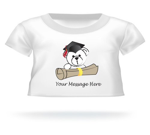 Personalized Giant Teddy bear shirt Bear peeking over diploma