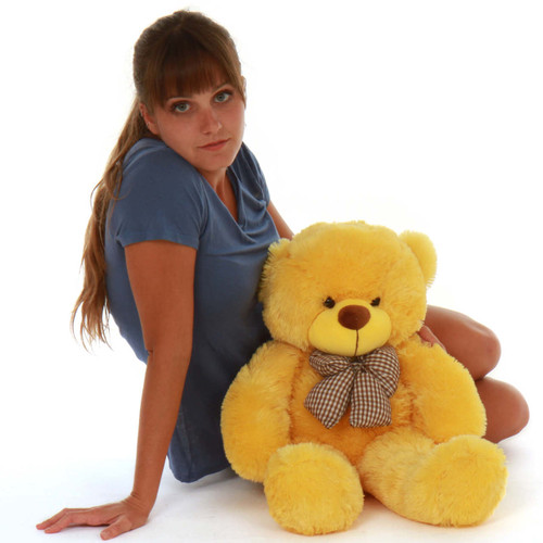 24in Big Adorable Huggable Yellow daisy giant Teddy Bear softest