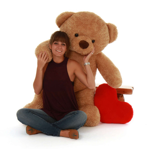 Cutie Chubs Adorable Life Size Jumbo Amber Teddy Bear 48in