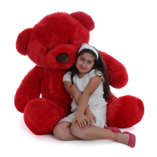 Huge huggable and soft Life Size  Red Giant Teddy bear Riley Chubs 5ft