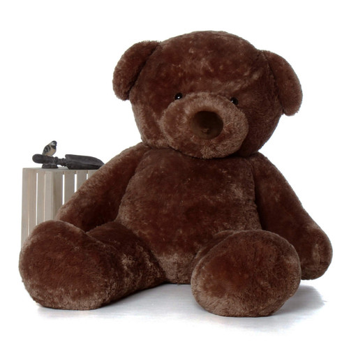 Big Mocha Teddy Bear Big Chubs 72in