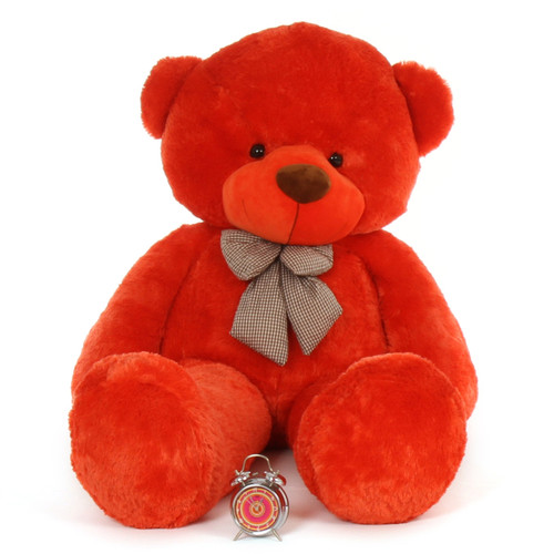 6 feet Huge Life Size huggable Teddy Bear Biggest Cuddles  soft huggable beautiful orange red fur