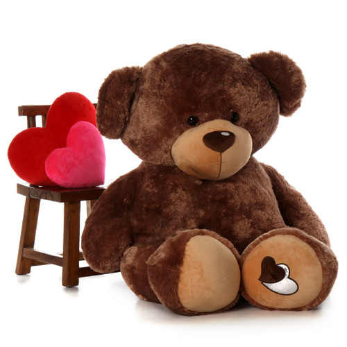 5ft Life Size Mocha Teddy Bear Amazing Baby Cakes Big Love